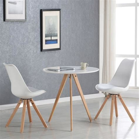 table cuisine 2 personnes table 224 manger ronde scandinave blanche 80cm oslo