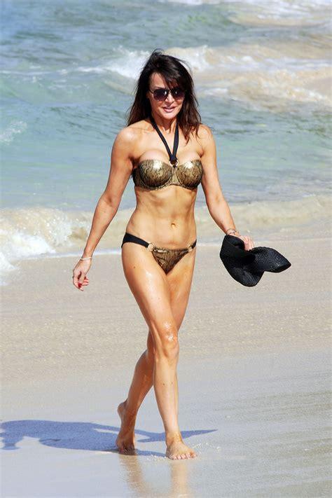 lizzie cundy  bikini   beach  barbados hawtcelebs