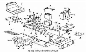 Mtd 13a1674g401  1997  Parts Diagram For Seat  Frame
