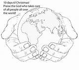 Holding Earth Drawing Hands Coloring Colouring Clipart Clip Sheets Bible Draw God Drawings Sketch Google Kidscoloring Something Embroidery Children Pre sketch template
