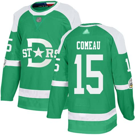 Men's Adidas Blake Comeau Authentic Green NHL Jersey ...