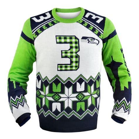 seahawks sweater wilson seattle seahawks nfl player sweater
