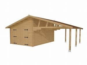 Abri En Kit : garage en kit avec l 39 abri voiture granvillier 44mm ~ Premium-room.com Idées de Décoration