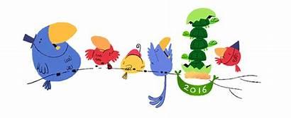 Google Doodles Logos Doodle Happy Eve January