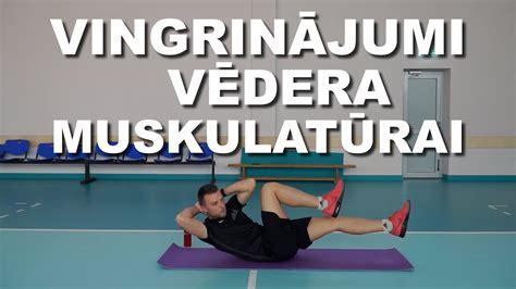 Vingrinājumi vēdera muskulatūrai - YouTube