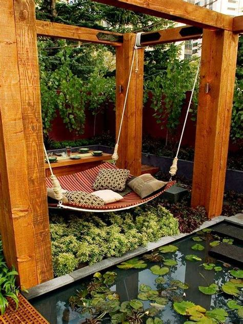 Gartendeko Ideen Mit Haengesessel Und Haengematte by H 228 Ngesessel Holzm 246 Bel Garten Gartenschaukel Garten