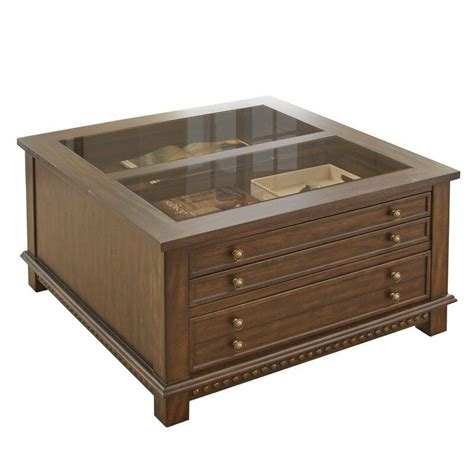 Get the best deal for antique coffee tables from the largest online selection at ebay.com. Steve Silver Livonia Glass Top Coffee Table with Drawers in Brown | eBay