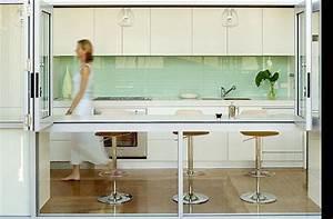Crédence Cuisine En Verre : cuisine cr dence en verre photo de carnets de d coration ~ Premium-room.com Idées de Décoration