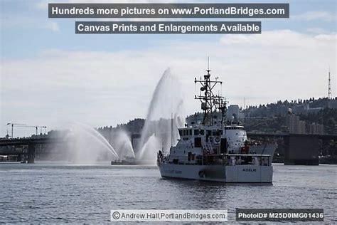 Fire Boats In Portland Oregon by Burnside Bridge Open Portland Fire Boat Uscgc Adelie