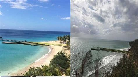Crash Boat Antes Y Despues De Maria by Video Destruida Playa Crash Boat De Aguadilla