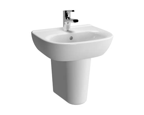 Vitra Zentrum Mm Tap Hole Basin And Semi Pedestal