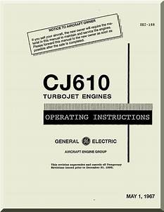 General Electric Cj610 Aircraft Turbo Jet Engine Operating