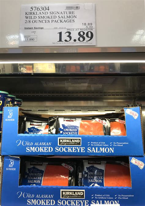 costco hot deal  kirkland signature wild sockeye smoked
