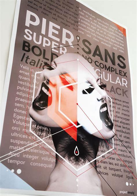 Pier Sans by Font Of The Week Pier Sans Project Simply