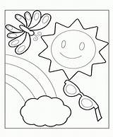 Coloring Summer Pages Preschool Toddlers Vacation Holiday Printable Print Comments Coloringhome sketch template