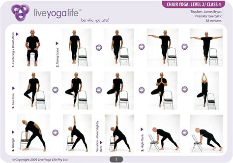 yoga with a chair level 2 class 4 live yoga life