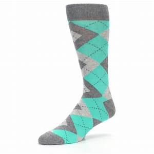turquoise gray argyle wedding groomsmen mens dress socks With wedding dress socks