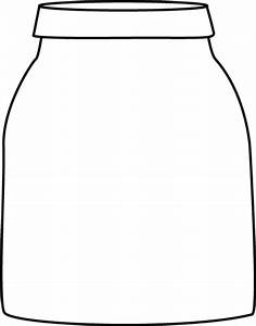 Black and White Jar Clip Art - Black and White Jar Image