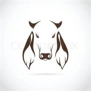 Cow Head Vector Outline