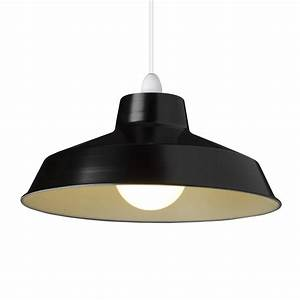 small dual fitting pluto metal lighting pendant shades black With lamp shades and light fittings