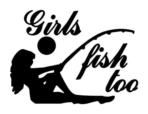 girl  fish vector art images fish fishing decals