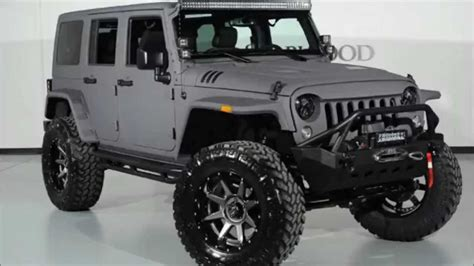 flat gray jeep 2015 jeep wrangler unlimited kevlar coated lifted youtube
