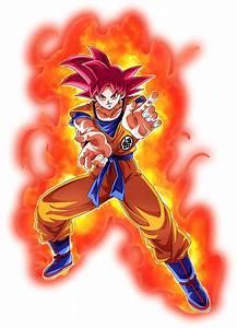 Goku, Super, Saiyan, God, Render, 4, Dokkan, Battle, By