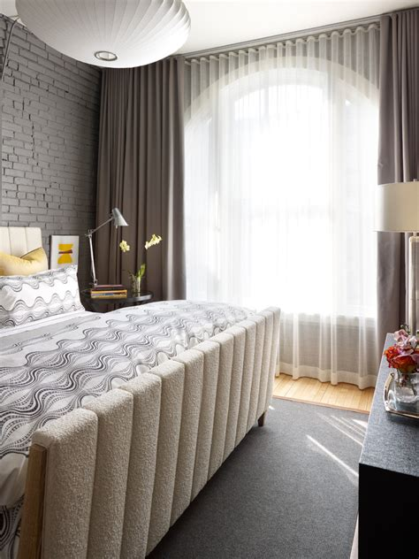 chic room darkening curtains in bedroom modern with oval