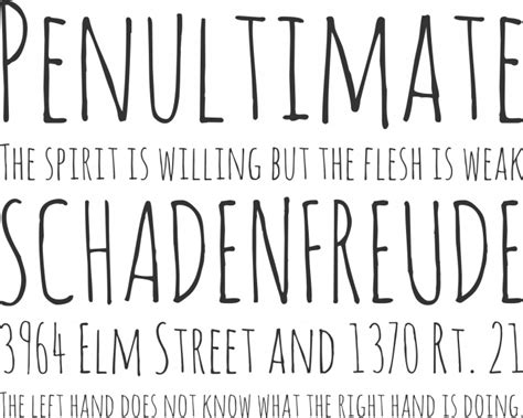 amatic font free by vernon adams 187 font squirrel