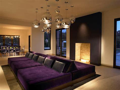 pretty  purple living room furniture home design lover