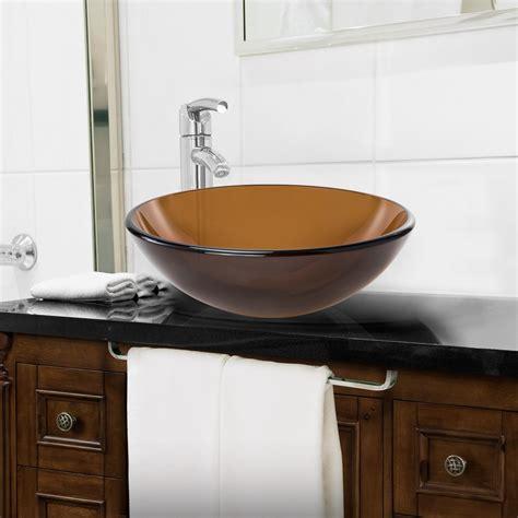 round vessel sink vanity tempered glass round vessel vanity bathroom sink ebay