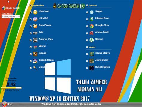 windows xp 10 edition sp3 2017 with wpi by cmtek