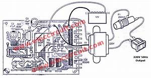 Dc To Ac Converter Circuit Projects  12v To 220vac