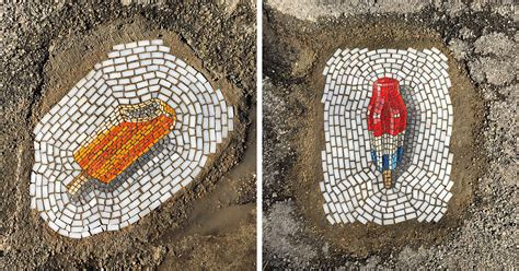 artist fights chicagos potholes  filling   ice