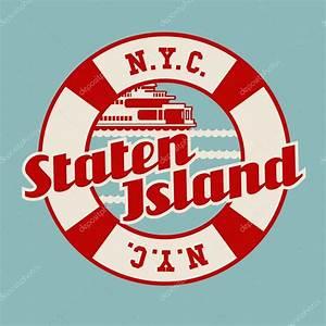 New York Schriftzug : vintage t shirt aufkleber wappen design schriftzug der staten island ferry new york city ~ Frokenaadalensverden.com Haus und Dekorationen