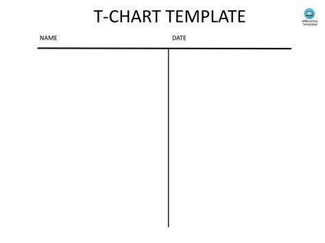 t chart template free t chart template pdf templates at allbusinesstemplates