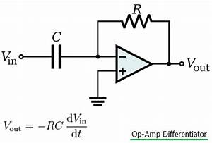 difference between integrator vs differentiator op amp With operational amplifiers the differentiator amplifier