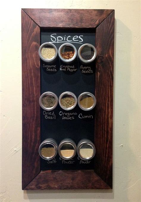 Magnetic Chalkboard Spice Rack by Best 25 Spice Holder Ideas On Kitchen Spice
