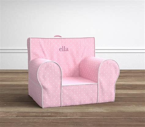 pink slipcover chair light pink pin dot anywhere chair slipcover only