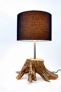 Tree trunk lamp reclaimed wood lighting driftwood for Wood tree floor lamp
