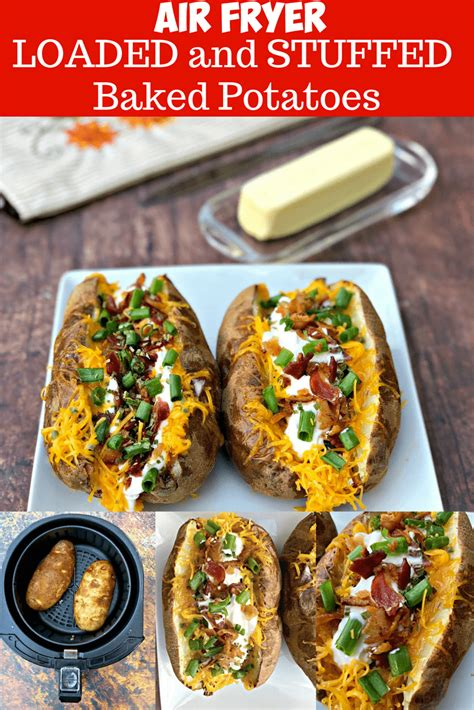 air fryer potatoes baked easy stuffed loaded quick potato recipes oven recipe cook staysnatched fry cooking