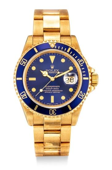Lot-Art | ROLEX | SUBMARINER REFERENCE 16618 | A YELLOW ...