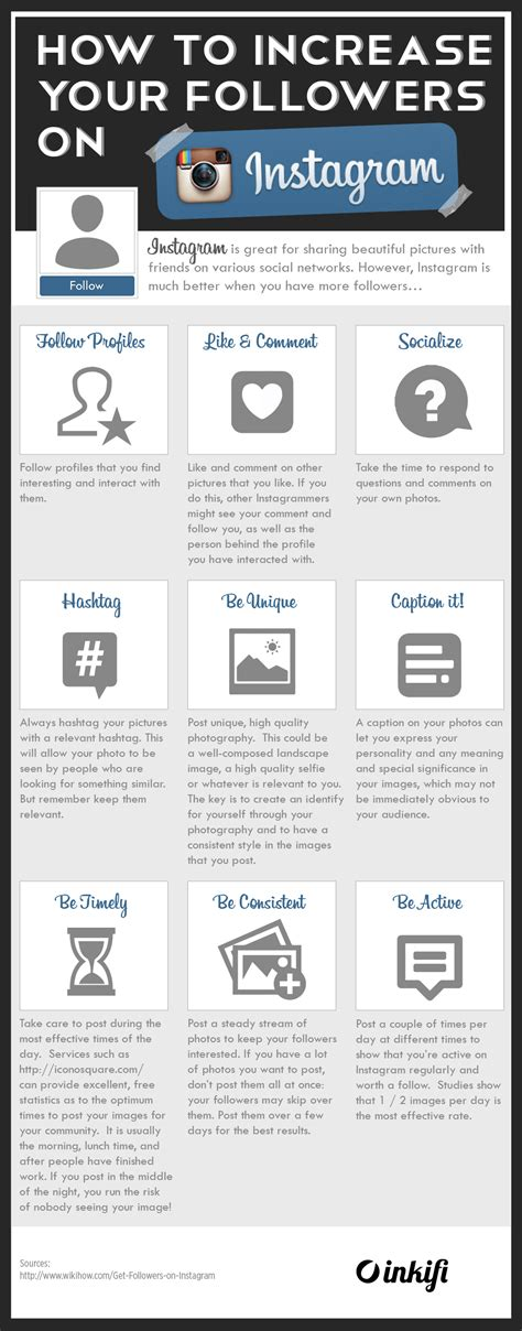 How To Increase Your Followers On Instagram Infographic