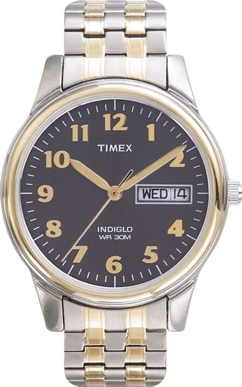 timex mens calendar daydate wcharcoal dial tone expansion