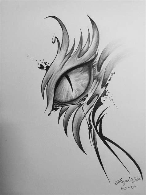 dragon eye artbygraphite   dragon eye drawing