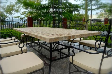 78 quot outdoor patio dining table italian mosaic marble
