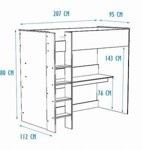 Lit Simple Dimension : dimension lit mezzanine maison design ~ Teatrodelosmanantiales.com Idées de Décoration