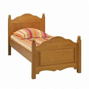 Matelas Lit 1 Place : lit 90 x 190 pin miel 1 place avec sommier et matels beaux meubles pas chers ~ Teatrodelosmanantiales.com Idées de Décoration