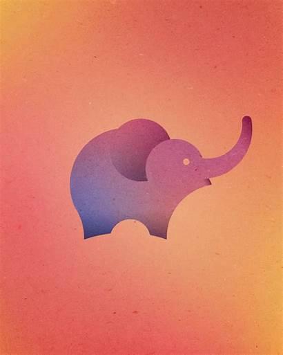 Circles Animal Perfect Logos Elephant Colorful Walrus