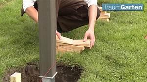 Zaun Bauen Pfosten Setzen Forum : zaun wpc zaun aufbau leicht gemacht youtube ~ Lizthompson.info Haus und Dekorationen